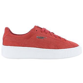 プーマスエードプラットフォーム 362223-03 女性の靴 赤スニーカー スポーツシューズ