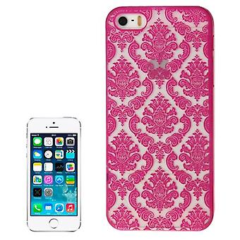 لiPhone SE (1st gen) ، 5s و 5 Case ، غطاء الزهور الصوفية الحديثة ، أرجواني