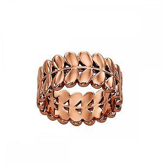 Orla Kiely Rose Gold Plated Leaf Ring R3469