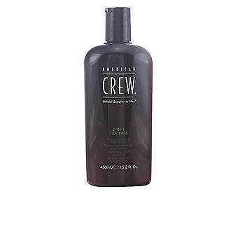American Crew Tea Tree-3 In 1 Shampoo, balsam och Body Wash 450 Ml Unisex