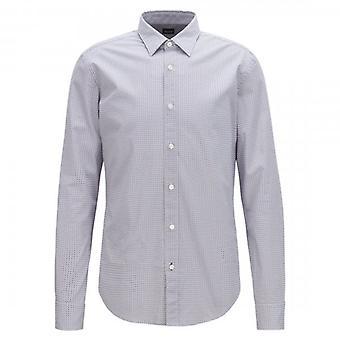 Hugo Boss Ronni pitkähihainen painettu paita Navy Red 490 50399792