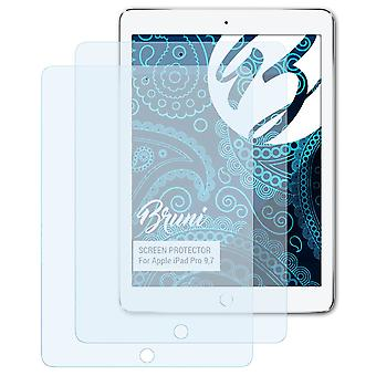 Bruni 2x Screen Protector compatibel met Apple iPad Pro 9,7 Beschermfolie