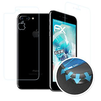 atFoliX Glass Protector compatible with Apple iPhone 7 Plus Glass Protective Film 9H Hybrid-Glass