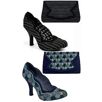 Ruby Shoo Women's Madison Scalloped Court Shoe Pumps & Matching Turin Bag