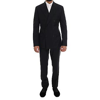 Dolce & Gabbana blaue Wolle Doppel brustSicilia Anzug