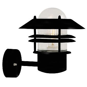 Black Outdoor Wall Uplight - Nordlux Blokhus Up 25011003