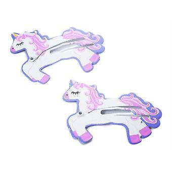 Haarclips Unicorns 2-p Busy Lizzie
