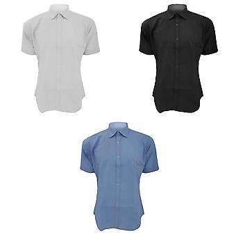 Kustom Kit Mens Slim Fit negócios / trabalho camisa