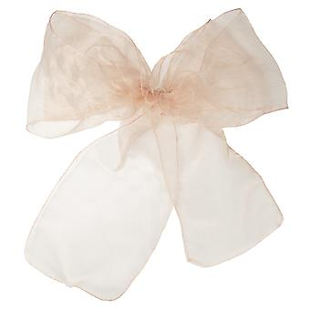 17cm x 274cm Organza Table Runners Wider et Fuller Sashes Peach
