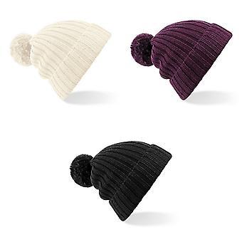 Beechfield Womens/Ladies Arosa Winter Bobble Beanie Hat
