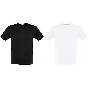 B & C Mens kort erme utstyrt t-skjorte