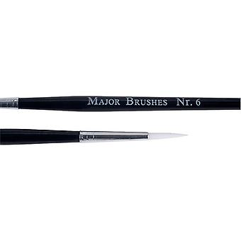 Major Brushes Synthetic Sable Brushes(size 6) - Pack of 10