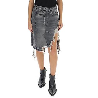 R13 R13w7192549 Women's Grey Cotton Skirt