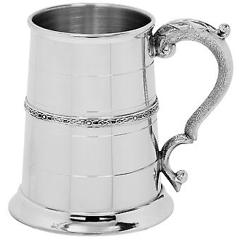 Keltische Single-Band aus Zinn Tankard - 1 Pint