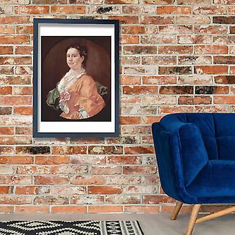William Hogarth - Portrait in Orange Poster Print Giclee