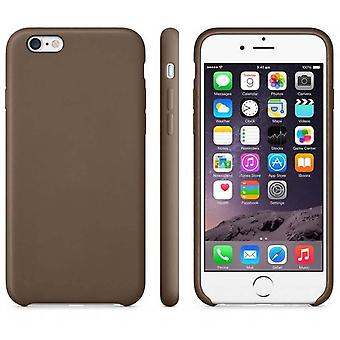 Slim soft silicone leather iphone 6 plus case