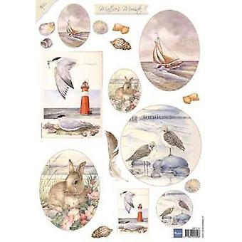 Marianne Design 3D Decoupage sheet Mattie Sea 2 MB0151