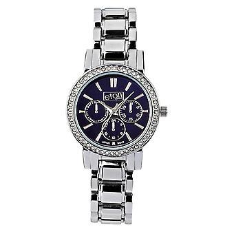 Eton Fashion Designer Watch, Navy Mirror Dial, Chrome  3211L-NY