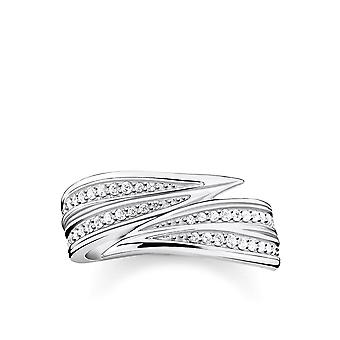 Thomas Sabo Sterling Silver Sterling Silver White Leaf Ring TR2283-051-14