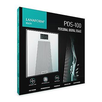 LANAFORM PDS-100 Elektronische weegschaal Vierkant Wit
