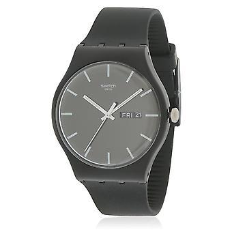 Swatch SUOB720  Unisex Black Rubber 41MM Quartz Analog Watch