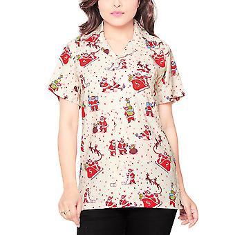 Club cubana women's regular fit classic short sleeve casual blouse shirt ccwx15