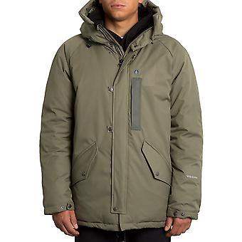 Volcom Interzone 5K Parka Jacket in Army Green Combo