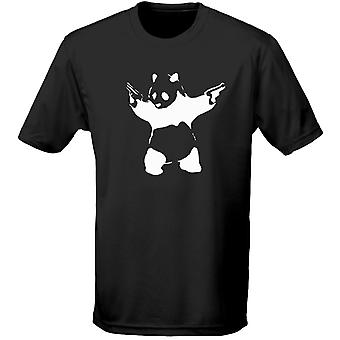 Banksy Panda Guns Graffiti Mens T-Shirt 10 Colours (S-3XL) by swagwear