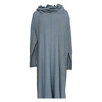Carole Hochman Women's Plus Dress Interlock Cowl Neck Lounger Blue A310266