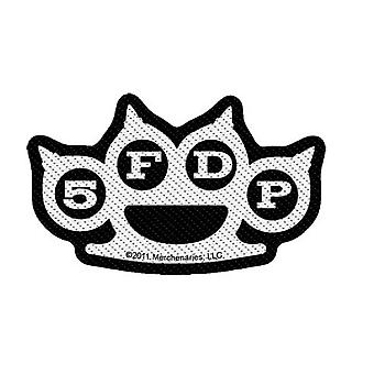 Five Finger Death Punch Patch Knuckles Band Logo Official New Black Cut Out