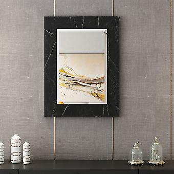 Spiegel Lopus Schwarz Farbe, Melaminic Chip Chrom, L45xP1,8xA60 cm