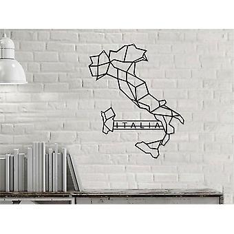 Welt-Wand-Dekoration schwarz Farbe Metall, L50xP0,16xA41 cm