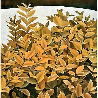 Samantha Multicolor malarstwo w drewnie, Płótno, L80xP3.5xA80 cm
