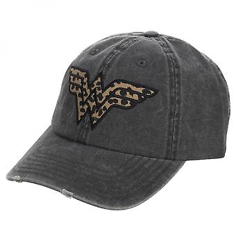 Wonder Woman Cheetah Print Pigment Dye Distressed Dad Hat