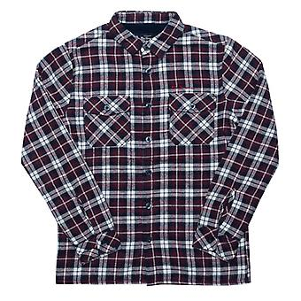 Boy's Ben Sherman Junior Borg gefüttert brushed Check Shirt in blau