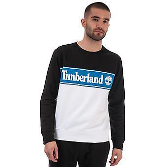 Męska bluza z logo Timberland Cut & Sew w kolorze czarnym