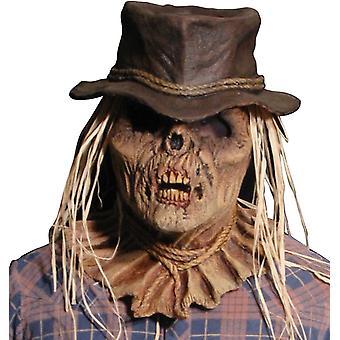 Zombie fugleskræmsel maske til Halloween