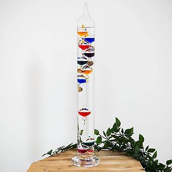 Multi Coloured 10 Bulb Galileo Thermometer 44cm