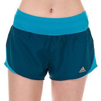 Women's adidas Run It 3 Inch Shorts in Blue