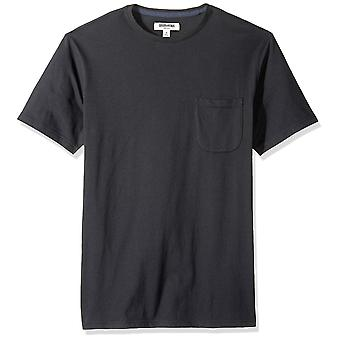 Goodthreads Men's Short-Sleeve Sueded Jersey Crewneck Pocket T-Shirt, Schwarz, ...