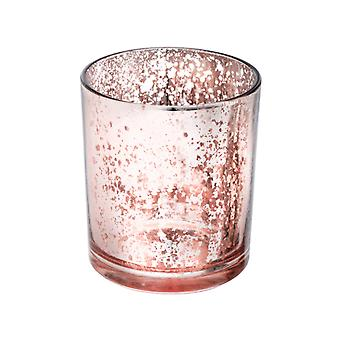 Enkele Grote Rose Gold Mercury Glass Votive Candle Holder