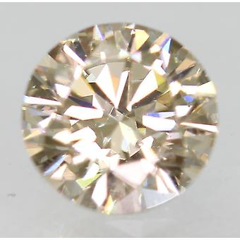 Cert 0.53 Ct Top Light Brown VVS1 Round Brilliant Natural Diamond 5.21mm EX CUT