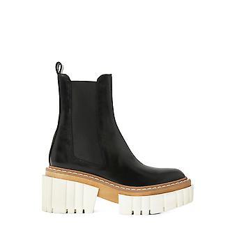 Stella Mccartney 800251n01311002 Botas de tobillo de piel sintética negra's negro de cuero falso