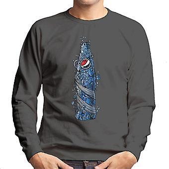 Pepsi Doodle Bottle miesten College pusero