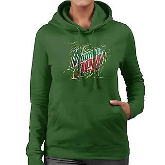 Mountain Dew Prism Design Women's Hooded Sweatshirt