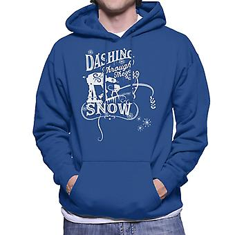Star Wars Christmas Dashing Through The Snow Men-apos;s Sweatshirt à capuchon