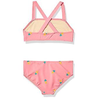 Essentials Girl's 2-Piece Bikini Set, Pink Pineapple, XL