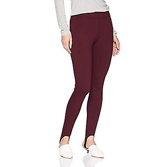 Brand - Daily Ritual Women's Stirrup Ponte Legging, burgundy, Small Re...