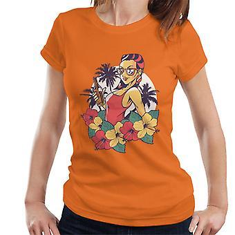 Summer Woman Holding Beer Women's T-Shirt