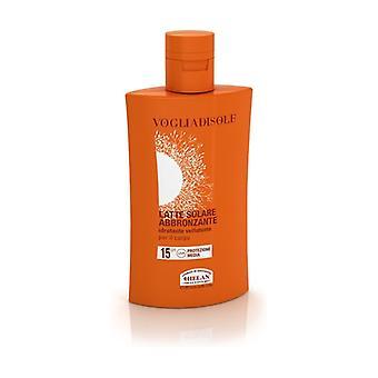 Vogliadisole Sun Tanning Milk SPF15 200 ml of cream